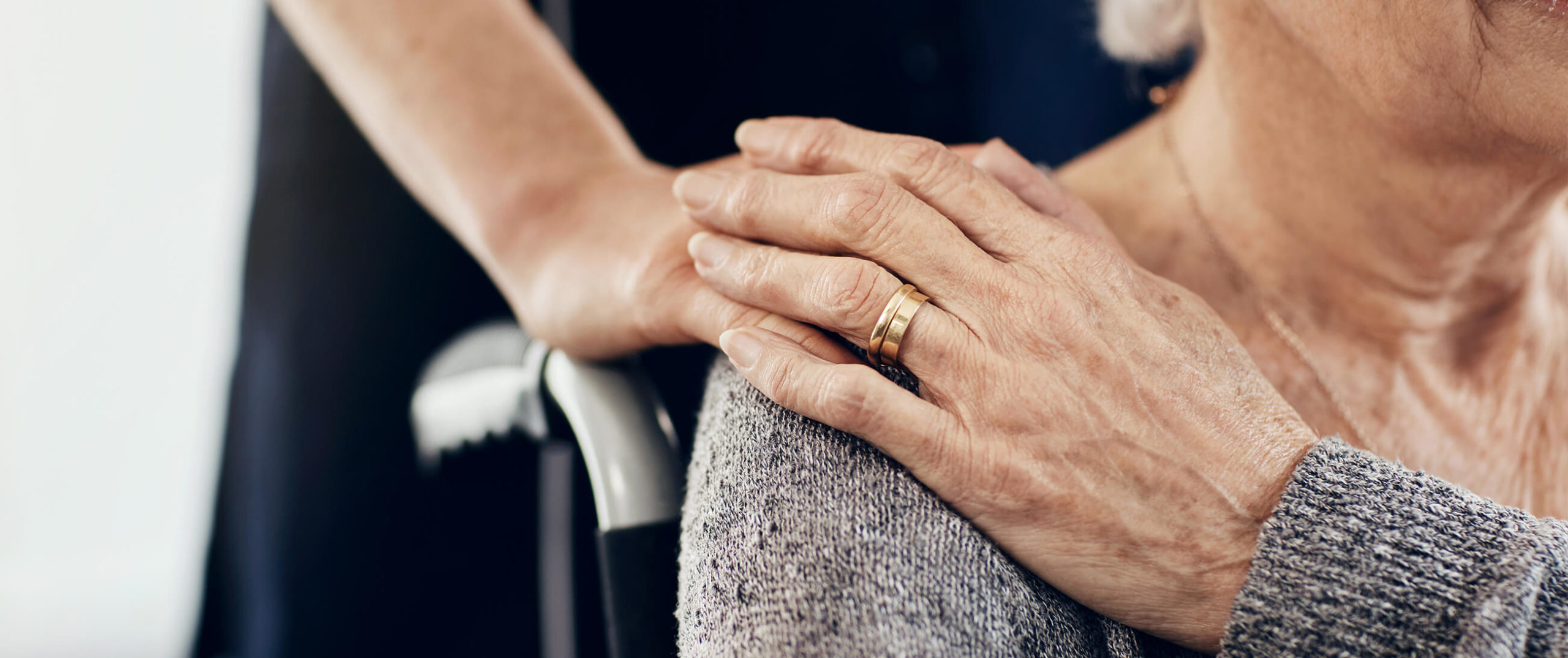 nurse hand with patient